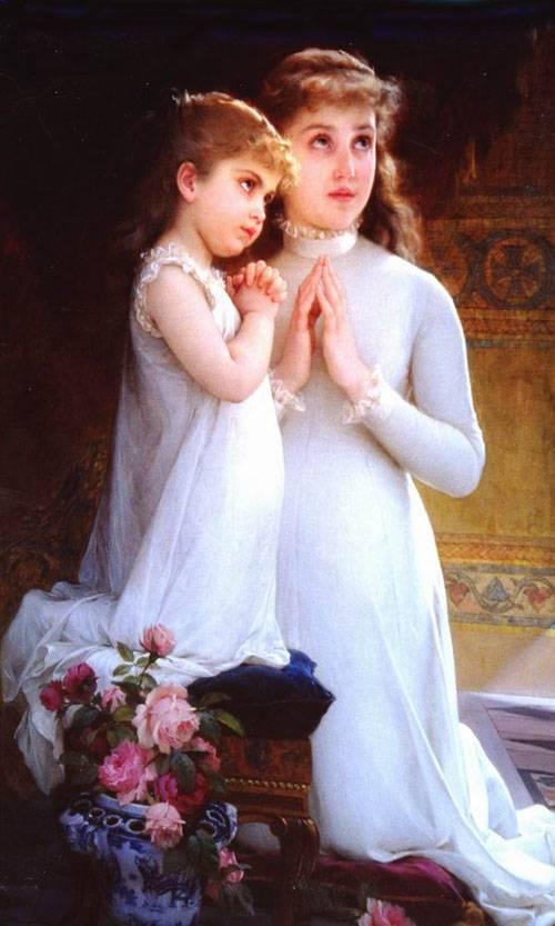 Tranquillity Two Girls Praying
