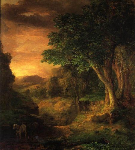 Classical Landscape Oil Painting By longjinart, China
