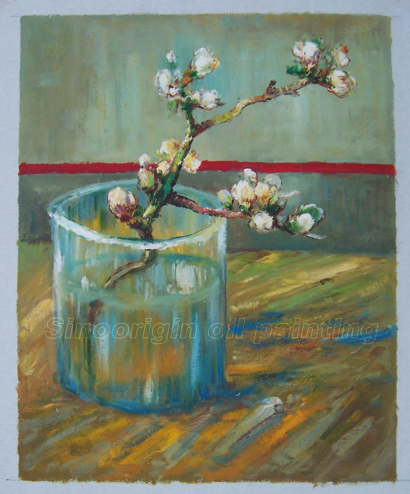 Vincent van gogh oil painting blossoming almond branch in a glass reviewsmspy