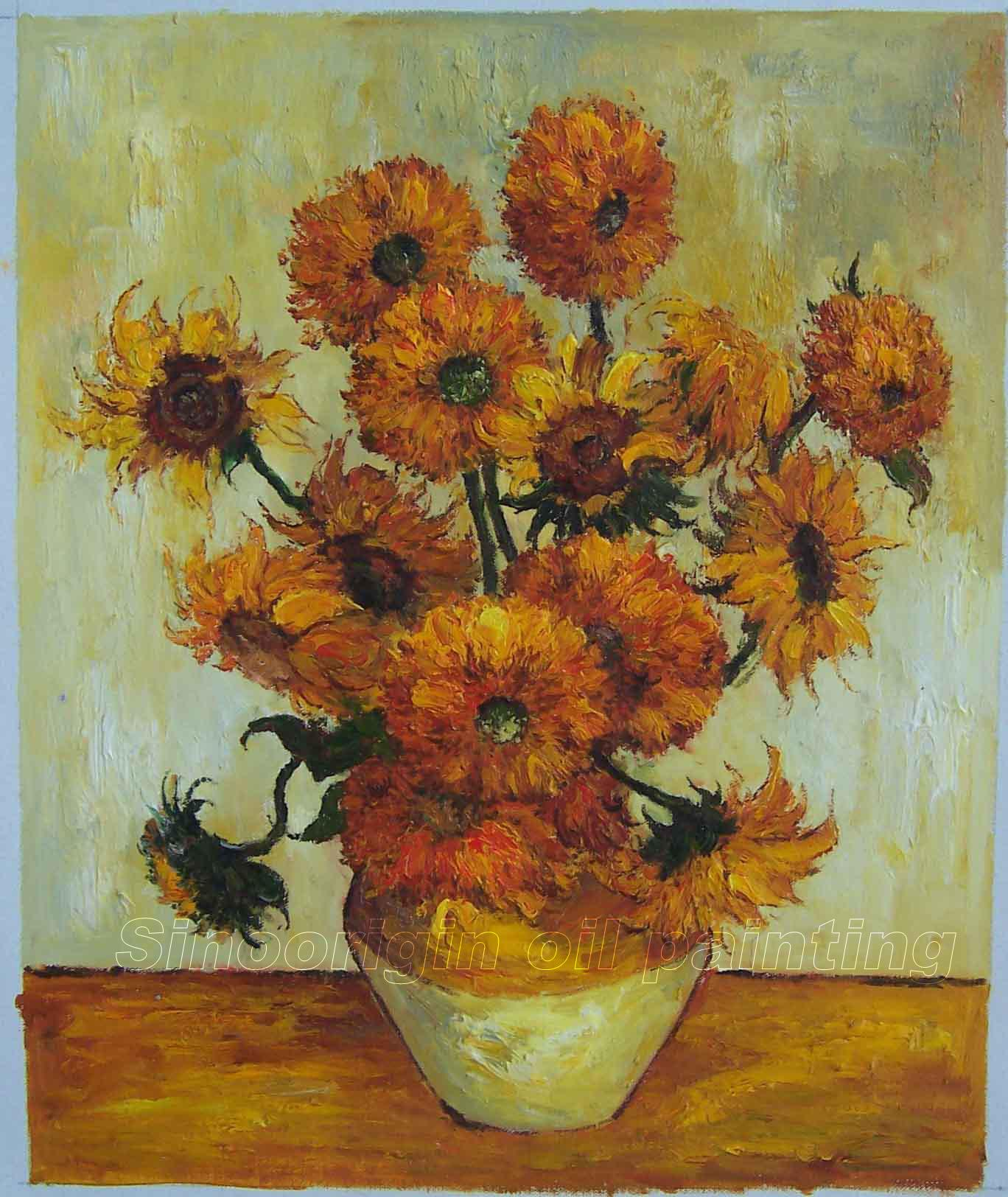 The Sunflowers 3  VanGogh- Vincent Van Gogh Doctor Who Sunflowers
