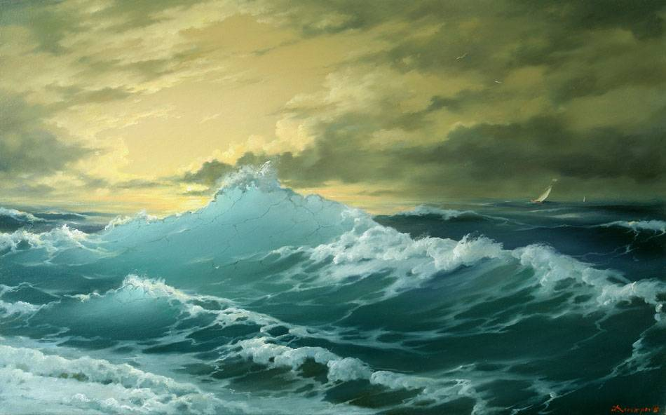 Seascape Painting Boat Painting 3 Seascape Oil Painting